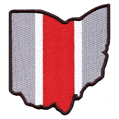 State of Ohio College Football Embroidered Iron On Patch