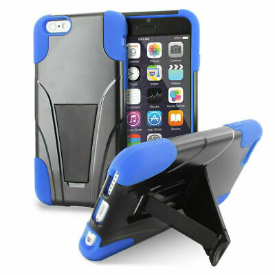 Apple iPhone 6 Plus 6S Plus Phone Case Shockproof Hybrid Armor Hard Soft Stand