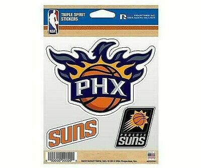 Phoenix Suns Triple Spirit Stickers  Decals  3 Pack Free Shipping
