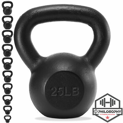 Cast Iron Kettlebell 5 lb to 50 Pounds for Weight Lifting Workout