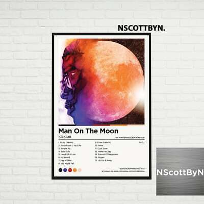 Man On The Moon - Kid Cudi Album Cover Poster Print Home Decor Best Awesome Gift