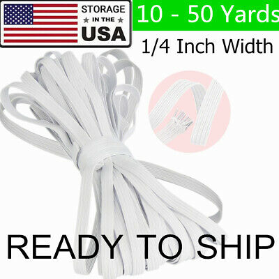 Thin Elastic Band String Craft Trim Sewing for Face Mask DIY 14 Inch 6mm White