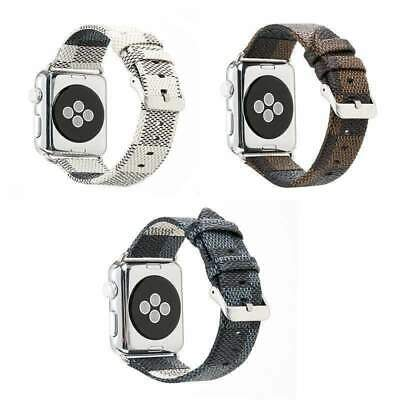 Luxury Leather iWatch Band Straps for Apple Watch 1 2 3 4 5 6  38 40 42 44mm