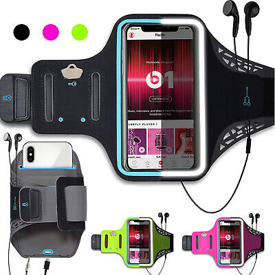 Cell Phone Armband Running Phone Holder Sports Arm Band Strap Gym Pouch Key Bag
