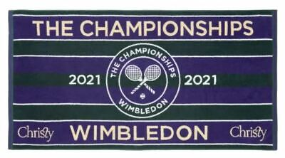WIMBLEDON THE CHAMPIONSHIP OFFICIAL MENS TENNIS TOWEL 2021 NEW IN COTTON BAG