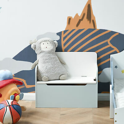 Kids Toy Storage Box and Organizer Chair 2 in 1 w Seating Bench