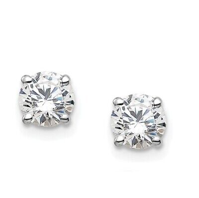 13ct TW Round REAL Diamond Stud Earrings in 14K White or Yellow Gold