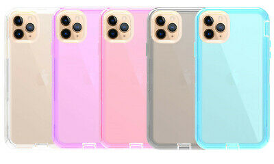 Hybrid Clear Dual Layer Protective Shockproof Case for iPhone 12 11 Pro Xs Max