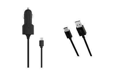 Car Charger -5ft Long USB Cord for Cricket Influence ATT Radiant Max U705AA