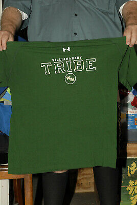 William and Mary Tribe Under Armour t shirt Large work out W-M us 1st college