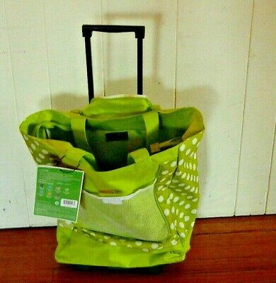 Olympia Rolling Softshell Top Load Tote Multi Function Retractable Handle New