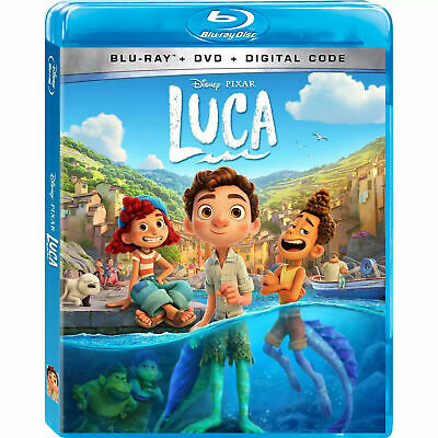 Luca Blu-ray 2021 Blu-Ray ONLY with caseartwork- No DVD or Digital SHIPS NOW