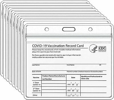 CDC Card Protector 4 X 3 in Record ID Card Name Tag Badge Cards Holder