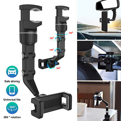 360° Car Rearview Mirror Table Mount Holder Cradle for Cell Phone iPhone Samsung