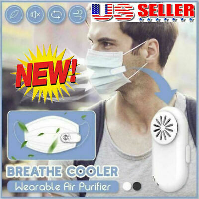 NEW Personal Breathe Cooler Wearable Air Purifier Low Noise Mini Portable USA
