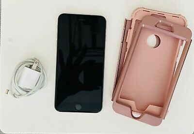 Apple iPhone 6S Plus 64GB Unlocked Smartphone Case Charger Silver With Rose Gold