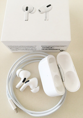 Apple Airpods Pro In-Ear Bluetooth Earphones With Wireless Charging Case - White