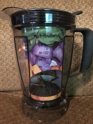 Genuine NutriBullet Blender Replacement 64 oz Pitcher Container w Blade - Lid