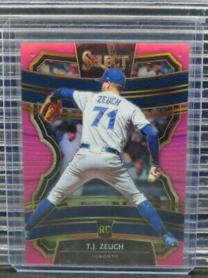 2020 Select T-J- Zeuch Fathers Day Pink Prizm Rookie RC 0210 Blue Jays Y260