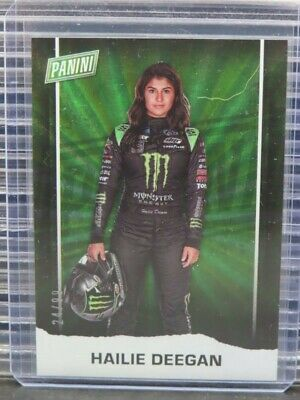 2021 Panini Fathers Day Hailie Deegan Rainbow Spokes Parallel 2499 Y261