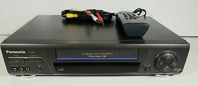 Panasonic PV-8661 4-Head VCR VHS Player Omnivision with VCR- Remote Tested works