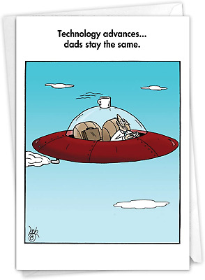 NobleWorks - Funny Card for Fathers Day - Hilarious Dads Greeting Notecard with