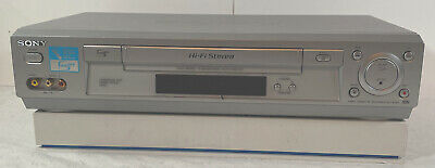 Sony SLV-N700 VHS VCR Player Recorder No Remote Tested And Working Silver Used-