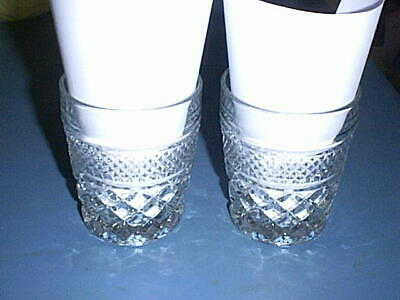 WEXFORD Glass On-the-Rocks Old Fashioned Mixed Drink Barware Glasses Set of 2