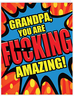 NobleWorks - Funny Card for Fathers Day 8-5 x 11 Inch - Big Appreciation Humor