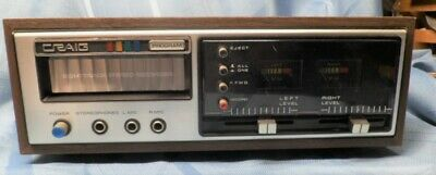 VINTAGE CRAIG 3307  8 TRACK RECORDER - PLAYER TESTED AND WORKING