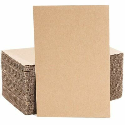 50 Pack Corrugated Cardboard Sheets Inserts for Packing Mailing Crafts 6x9