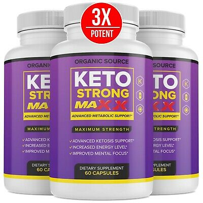3 Pack Official Keto Strong Max Advanced Formula 3 Bottles 3 Month Supply