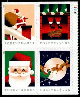 US Scott  5644-5647 Plate Block Of 4 Stamps MNH A Visit From St- Nick-