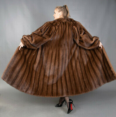 5069 GORGEOUS REAL MINK COAT FUR SWINGER EXTRA LONG BEAUTIFUL LOOK SIZE 3XL