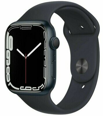 Apple Watch Series 7 45mm Aluminum Case with Sport Band - Midnight - GPS - FS