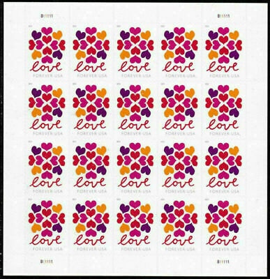 200 Hearts Blossom Love stamps 10 Sheets Of 20 USPS Postage