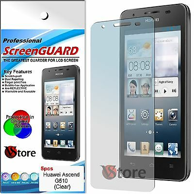 5 Film For HUAWEI ASCEND G510 Films Protector Save Screen LCD Display