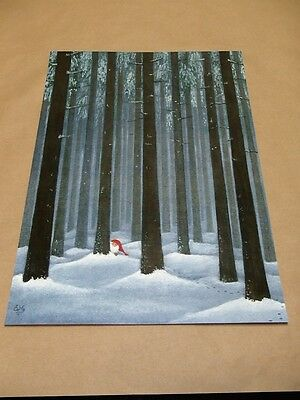 Scandinavian Swedish Tomte Gnome in Forest like Helje Print 24 by Eva Melhuish