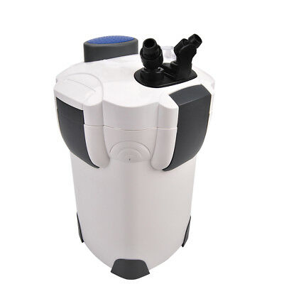 FREE MEDIA 100 GAL Aquarium Fish Tank Canister Filter - 9W UV Sterilizer370 GPH