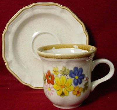 MIKASA china SPRING BOUQUET EC405 pattern Set of Three 3 Cup - Saucers
