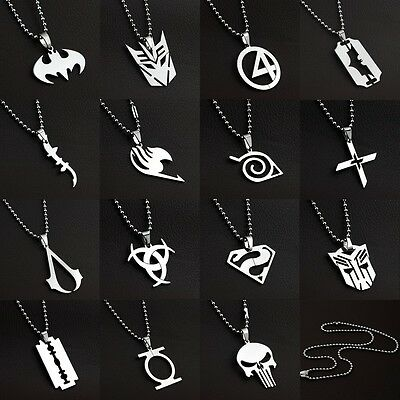 Anime Super Heroes Charming Stainless Titanium Steel Silver Pendant Necklace AAA