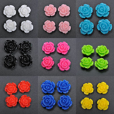 Wholesale Gorgeous Rose Flower Coral Resin Spacer Beads 10mm12mm15mm U Pick