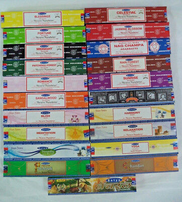 Satya Nag Champa Oriental Yoga Supreme Series Incense Sticks 15 Gram U Choose
