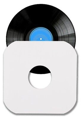 100 12 LP Album White Paper Vinyl Record Sleeves Protectors Heavy Duty