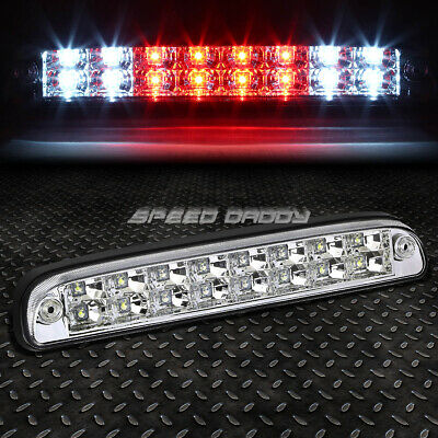 FOR 99-16 FORD SUPER DUTY 2-ROW LED REAR THIRD 3RD TAIL BRAKE LIGHT LAMP CHROME