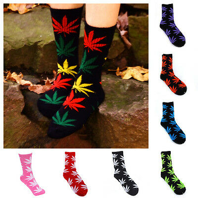 New Comfortable Maple High Men Women Leaf Cotton Weed Ankles Socks Colorful