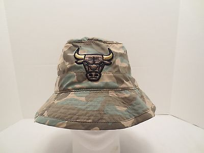 MITCHELL - NESS NBA CHICAGO BULLS AMBUSH BUCKET HAT CAP SIZE S  M CAMO NWT