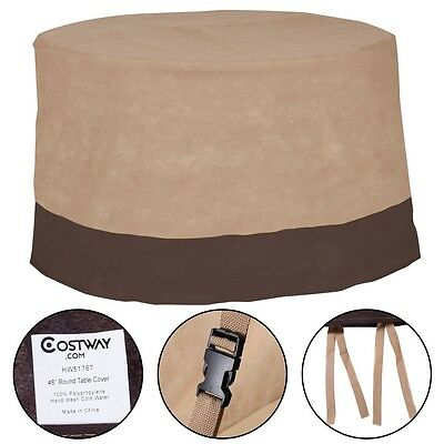 New Waterproof  48 Large Patio Round Table Cover Outdoor Furniture Protection