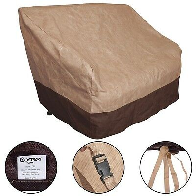 Outdoor All-Seasons Waterproof Loveseat Wicker Chairs Cover Furniture Protection