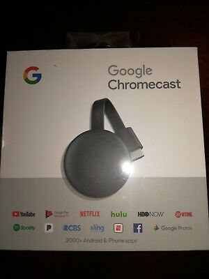 Google Chromecast 3rd Gen Digital HDMI Media Streaming 2018 Newest Version New